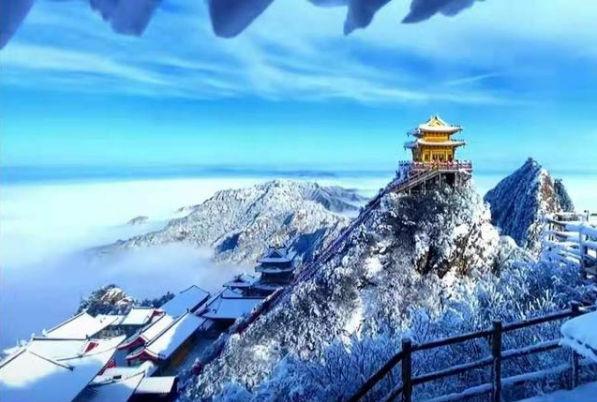 老君山雾凇雪景