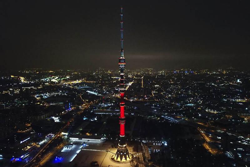 世界上最高的塔第七名:奥斯坦金诺电视塔