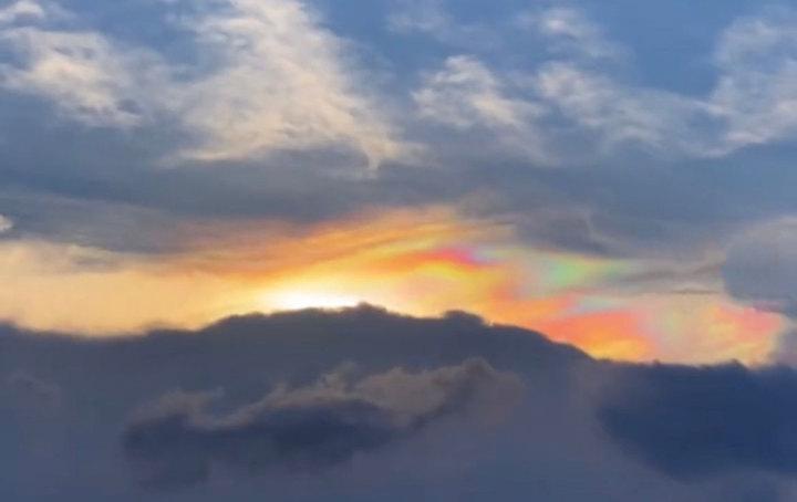 5月22日傍晚厦门天空出现的七彩祥云8
