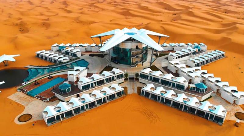 带你去看一个像火星基地的酒店--中卫星星沙漠酒店