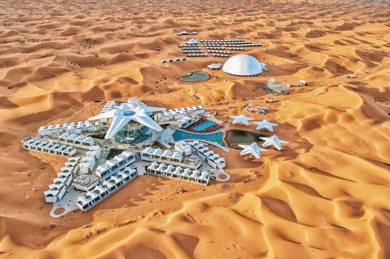 中卫星星沙漠酒店全景