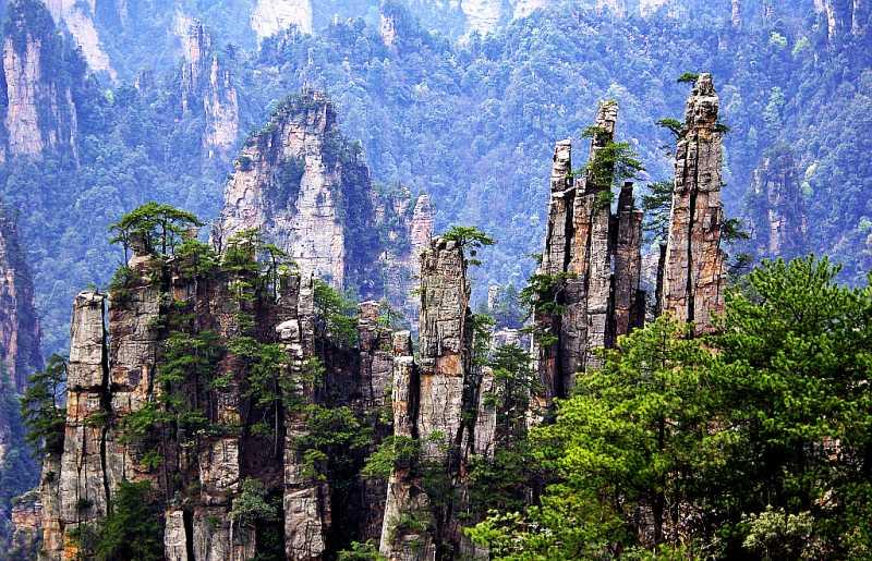 中国十大人间仙境1、奇峰三千,秀水八百的天下第一奇山--张家界