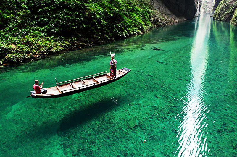 中国十大人间仙境3、壁立千仞,柔情似水的东方诺舟--屏山大峡谷