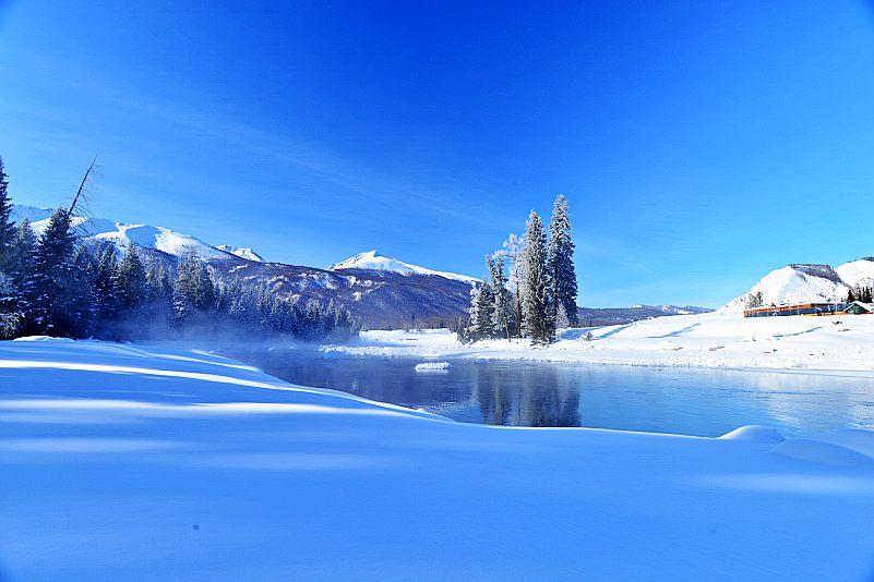 中国十大人间仙境9、绝妙空灵,雪中童话的素裹千里冰封雪景--喀纳斯